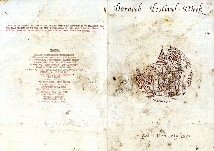 Programme Dornoch Festival Week 1987