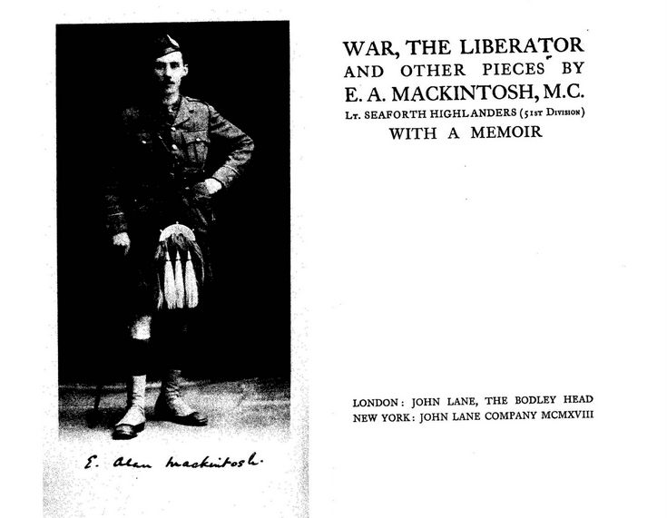 War the Liberator by E A Mackintosh MC