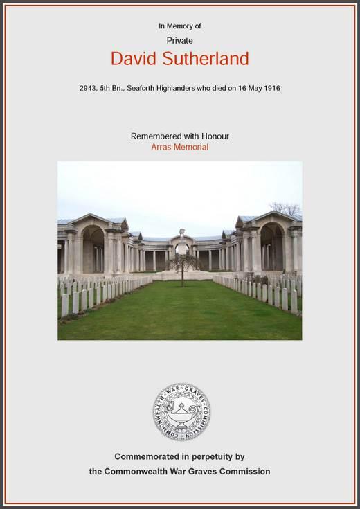 Poem 'In Memoriam' dedicated to D Sutherland