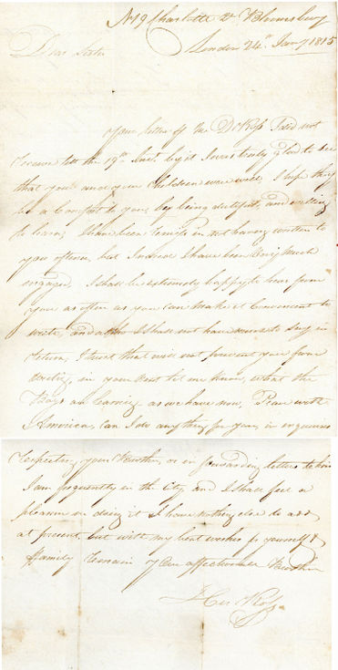 Letter dated 24 January 1815 to Mrs Rose