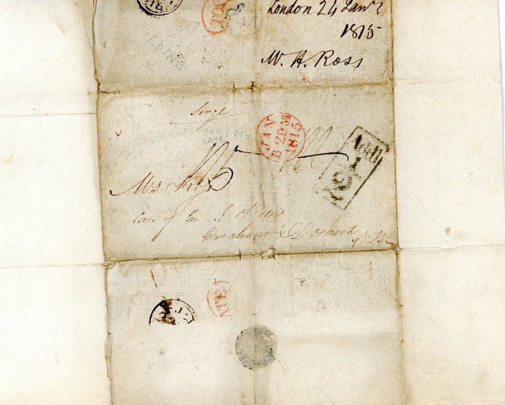Delivery address  of letter dated 24 January 1815