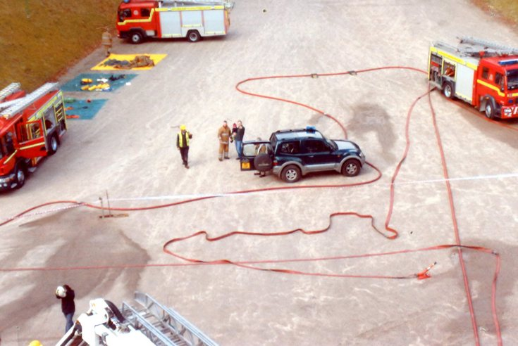 Fire Brigade training at Dunrobin