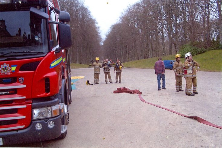 Fire Brigade training at Dunrobin