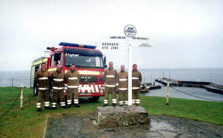 Dornoch Fire Service at John O' Groats