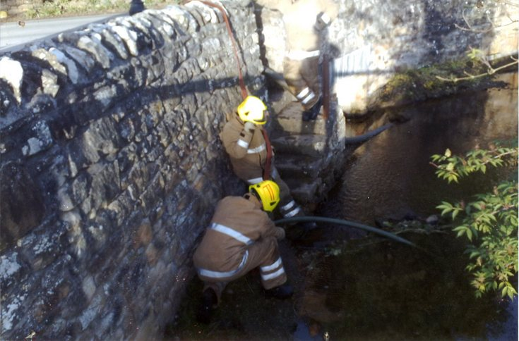 Training Exercise in Dornoch Burn
