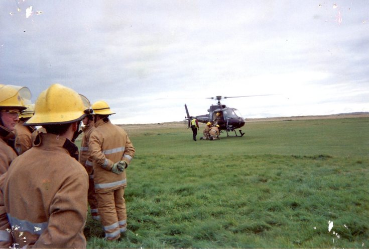 Training exercise at Dornoch Airfield