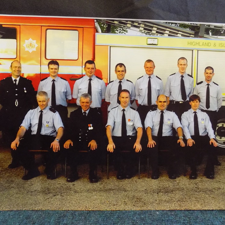 Group photograph of Dornoch Fire Brigade c 2000