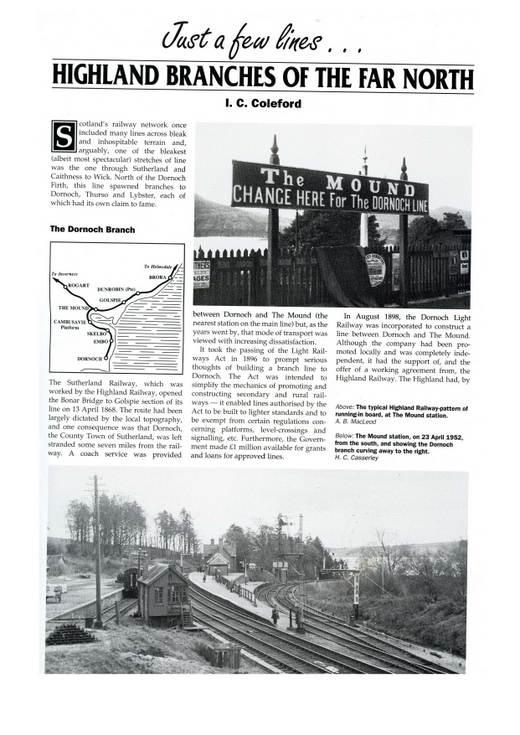 Railway magazine extract