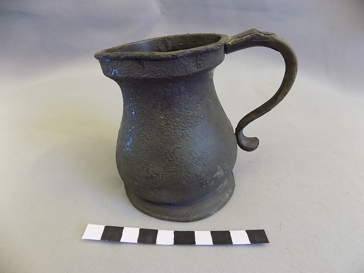 Pewter tankard used as a measure