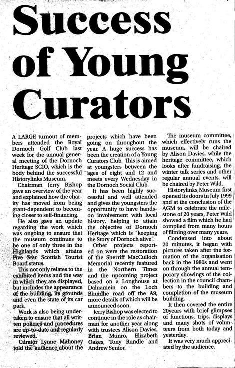 Success of Young Curators