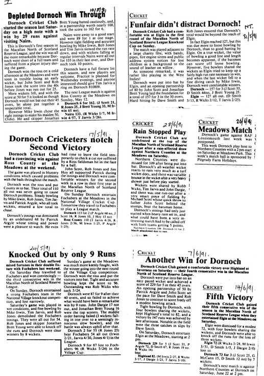 Dornoch Cricket Club Match Reports
