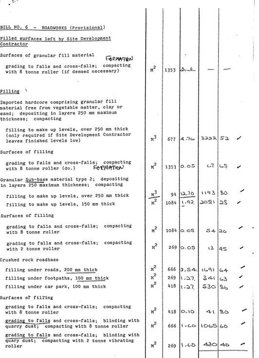Bill No. 6 - Roadworks (Provisional).