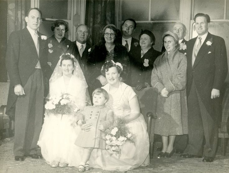Wedding Photograph, Beattie Wright & Jimmy Hutton