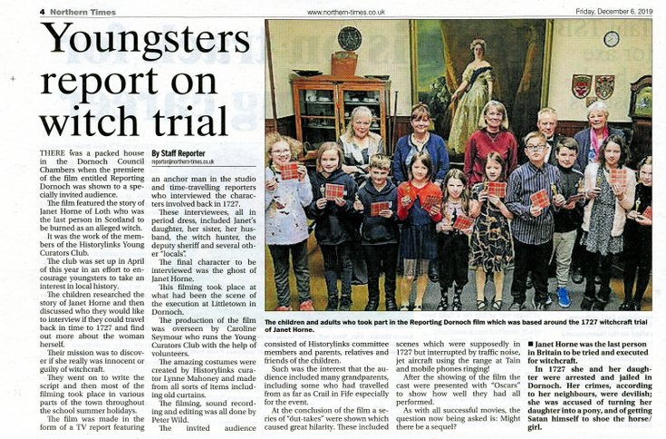 'Youngsters Report on Witch Trial'