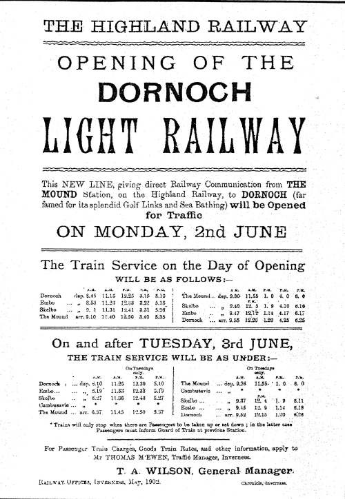 Dornoch light railway