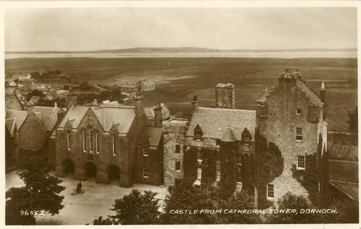 The castle from cathedral tower, Dornoch