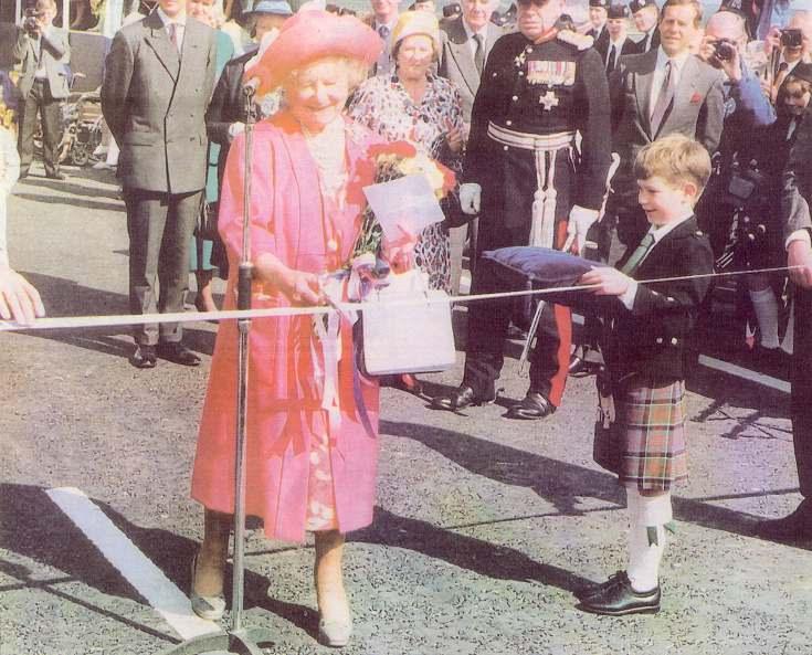 Queen Mother opening Dornoch Bridge 1991
