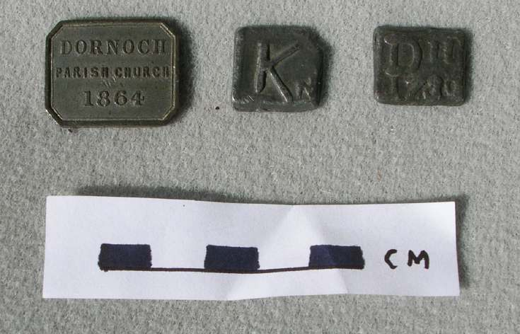 Communion Tokens from Dornoch and Kincardine?