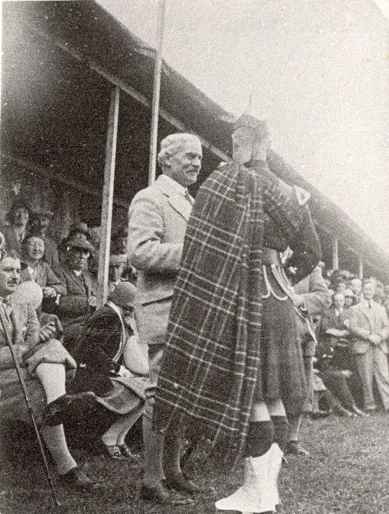Ramsay Macdonald at the Dornoch Games 1930s