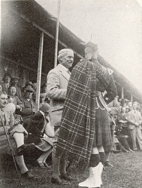 Ramsay Macdonald at the Dornoch Games 1930s