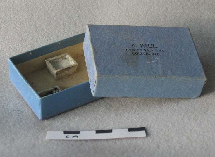 Watchmaker's box containing paint