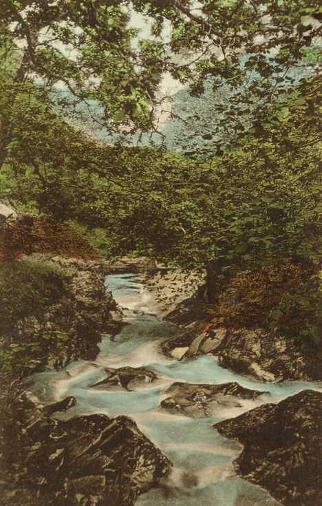 Tinted view of Fairy Glen, Spinningdale