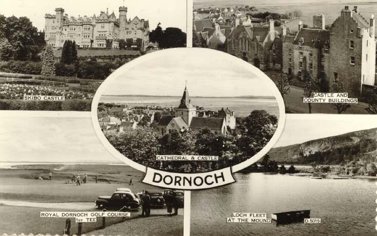Multiple view Dornoch postcard