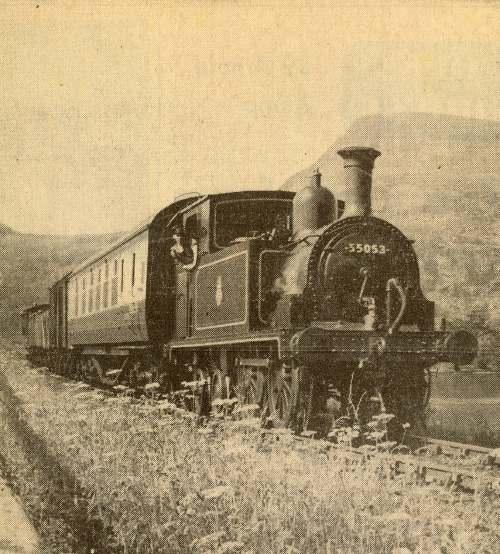 Locomotive 55053 crossing the Mound