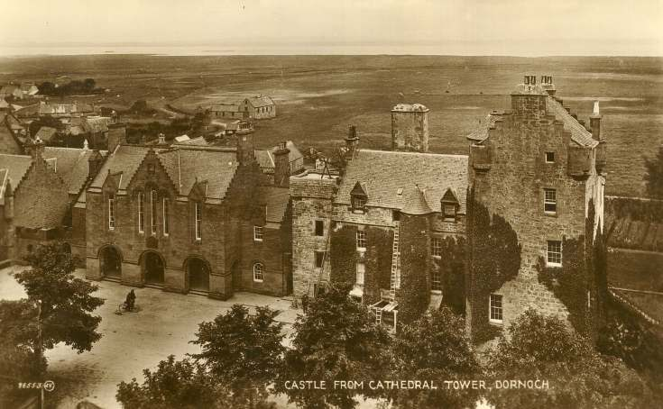 Castle from Cathedral Tower, Dornoch