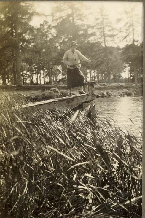Ruby Hardie fishing at a lake