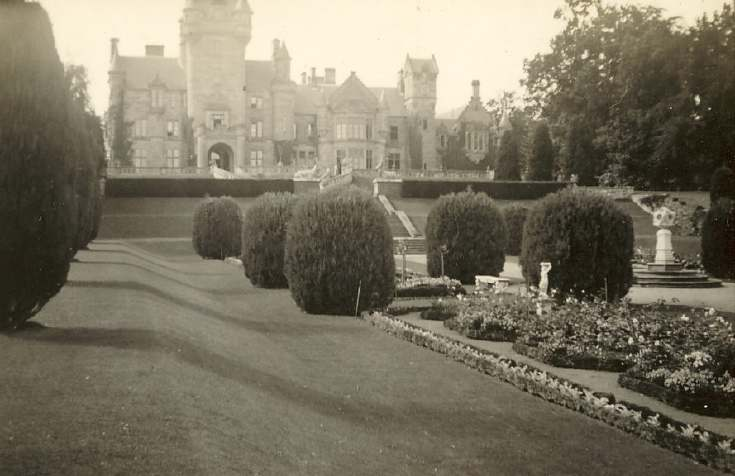 Skibo Castle and garden, viewed from west