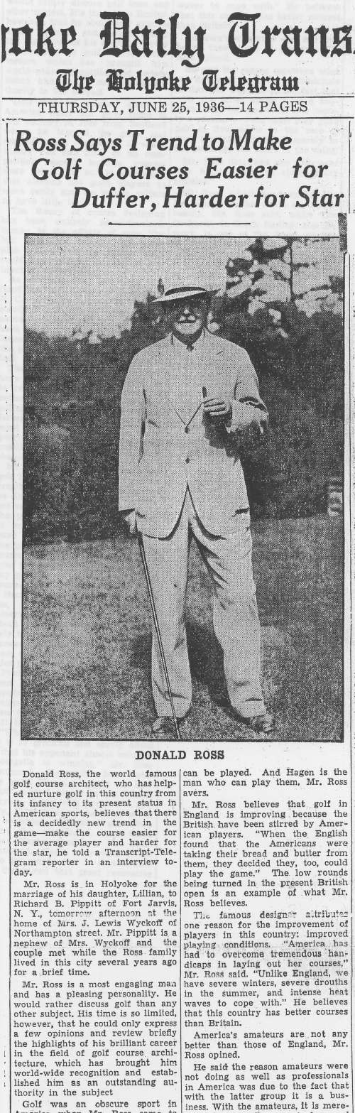 Donald Ross documents - article