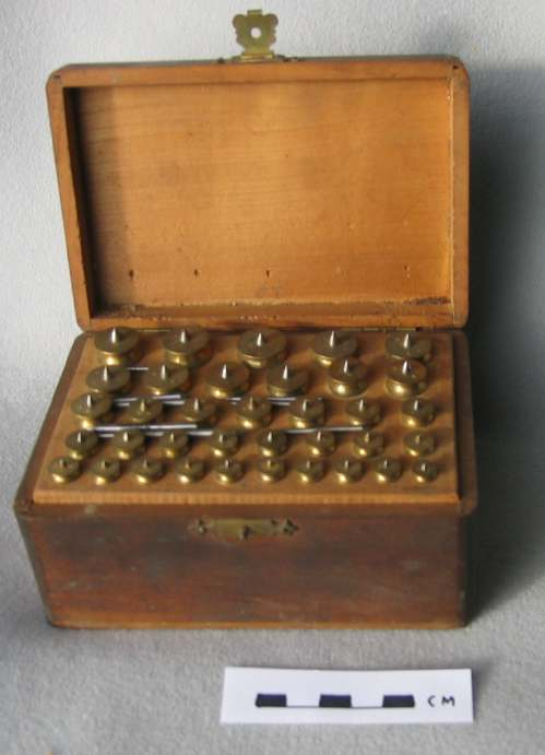 Box of watchmaker's arbours