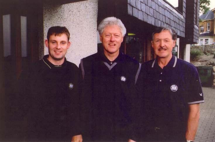 President Bill Clinton at the Royal Dornoch
