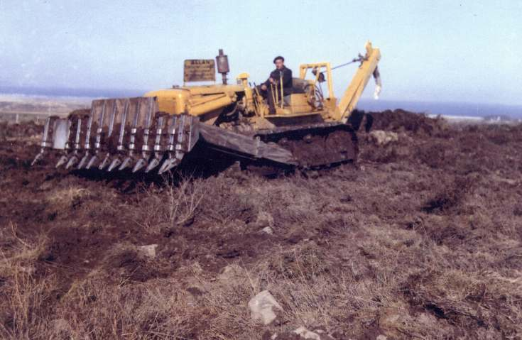 Photograph of Caterpillar tractor used for land reclaimation