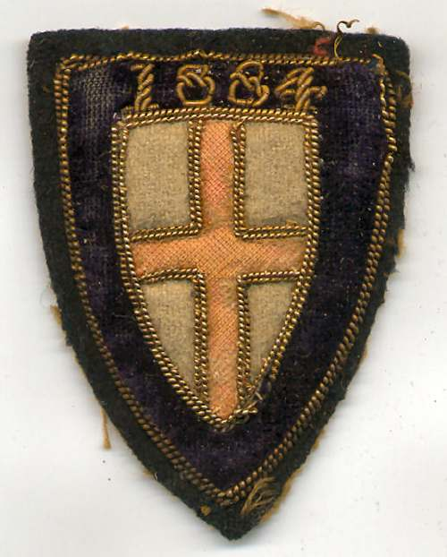Embroidered badge - Robert Mackay 1884