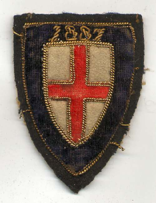 Embroidered badge - Robert Mackay 1887