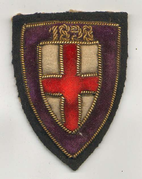 Embroidered badge - Robert Mackay 1898