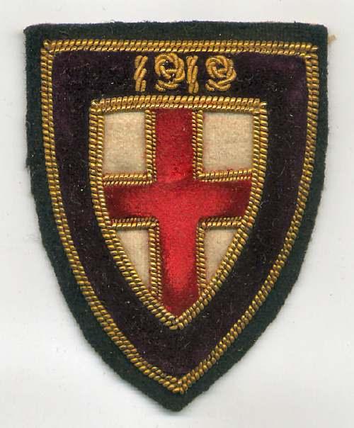 Embroidered badge - Robert Mackay 1919