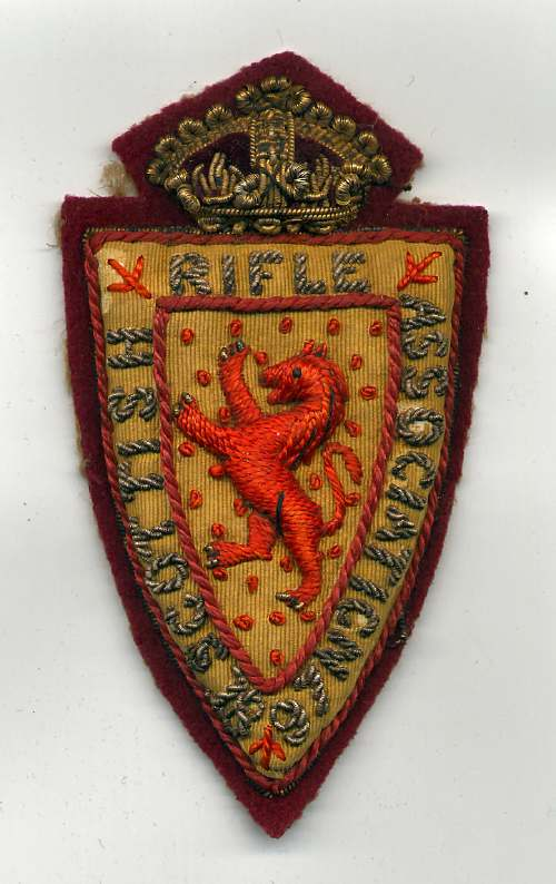 Scottish Rifle Association badge - Robert Mackay