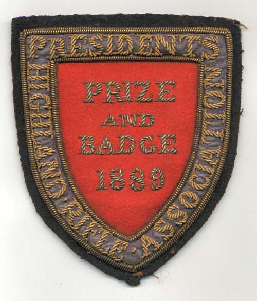Highland Rifle Association badge - Robert Mackay 1889