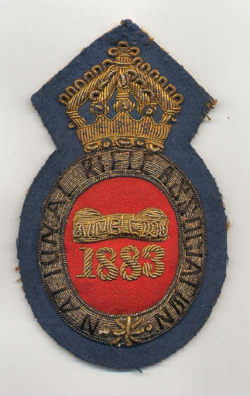 National Rifle Association  ~ Wimbledon badge - Robert Mackay 1883