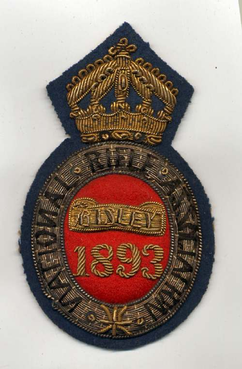 National Rifle Association  ~ Bisley badge - Robert Mackay 1893