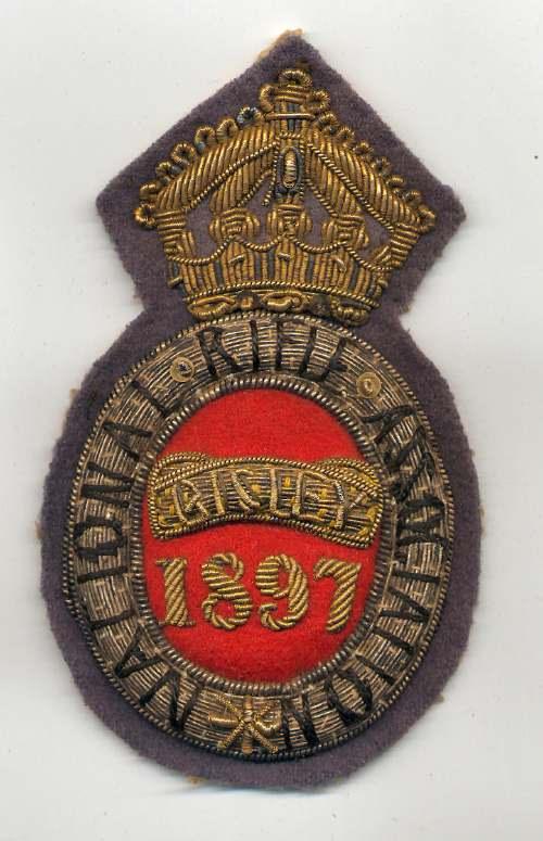 National Rifle Association ~ Bisley badge - Robert Mackay 1897