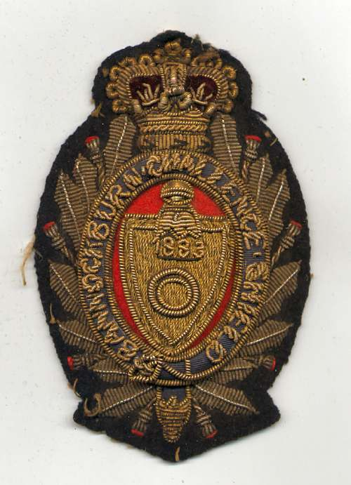 Bannockburn Challenge Shield badge - Robert Mackay 1883