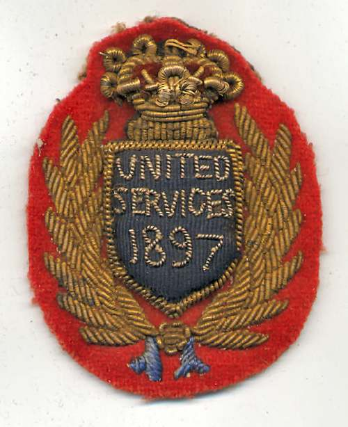 United Services badge - Robert Mackay 1897