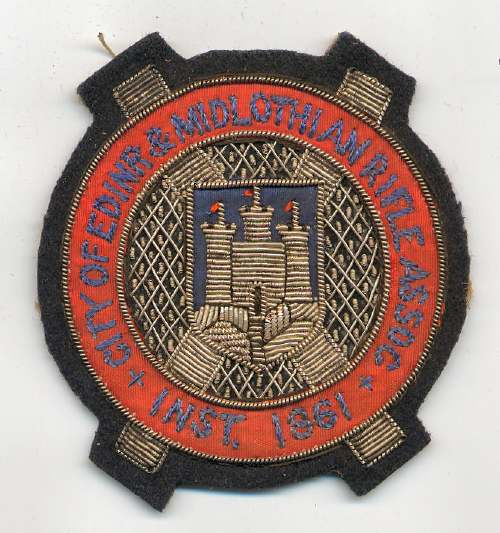 City of Edinburgh & Midlothian Rifle Association badge - Robert Mackay