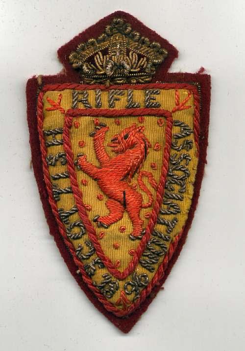 Scottish Rifle Association badge - Robert Mackay