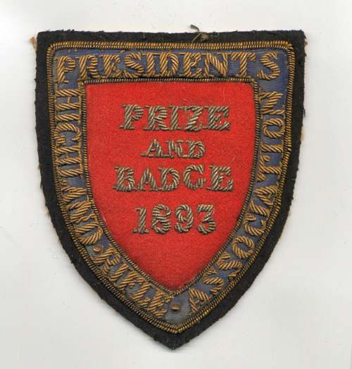 Highland Rifle Association badge - Robert Mackay 1893