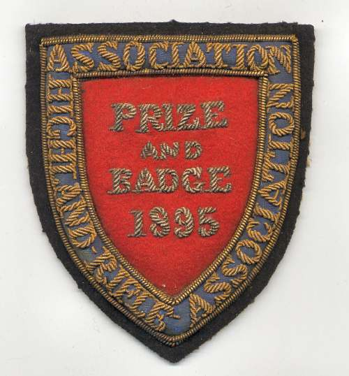 Highland Rifle Association badge - Robert Mackay 1895